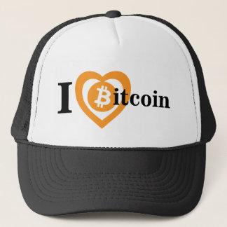 I Heart (Love) Bitcoin Logo Symbol Crypto Hat Cap