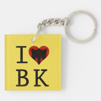 I Heart Love Brooklyn New York Keyring