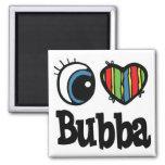 I Heart (Love) Bubba Square Magnet