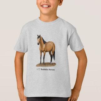 I Heart (Love) Buckskin Horses T-Shirt