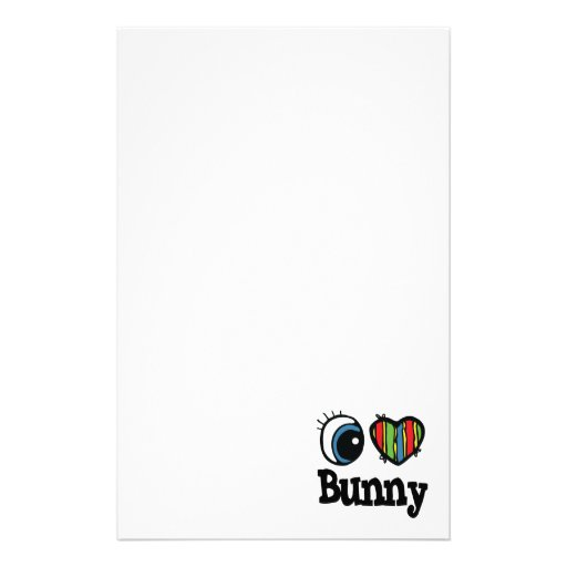 I Heart (Love) Bunny Personalised Stationery