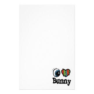 I Heart (Love) Bunny Stationery