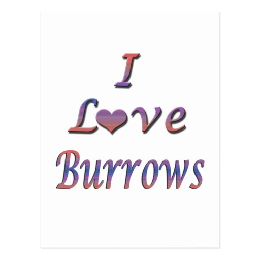 I Heart (Love) Burrows Postcards