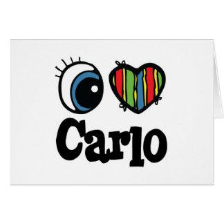 I Heart (Love) Carlo Card