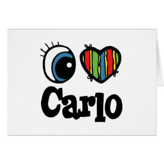 I Heart (Love) Carlo Greeting Card