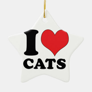 I Heart / Love Cats Christmas Ornament