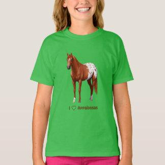 I Heart (Love) Chestnut Appaloosa Horses T-Shirt