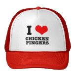I HEART (LOVE) CHICKEN FINGERS TRUCKER HATS