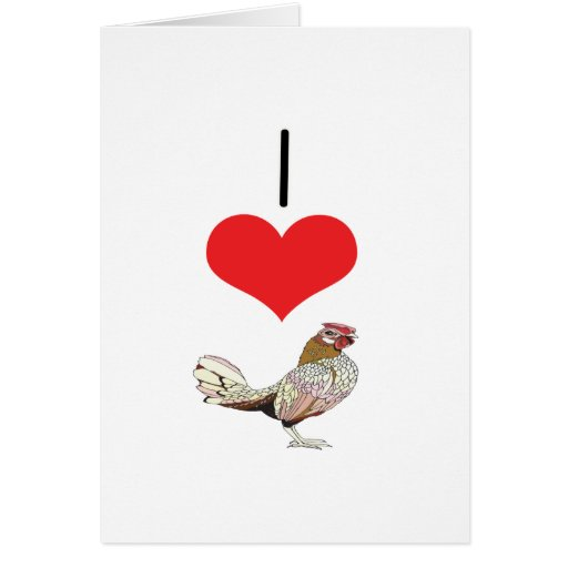 I Heart (Love) Chickens Card
