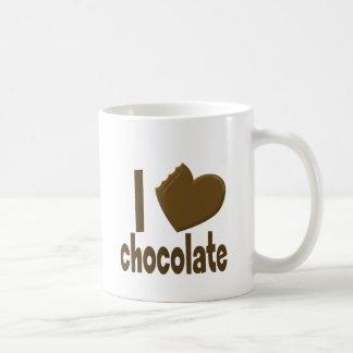 I Heart Love Chocolate Basic White Mug
