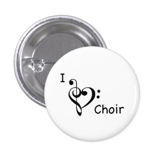 I Heart Love Choir Music Button