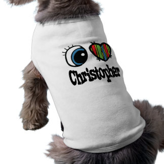 I Heart (Love) Christopher Sleeveless Dog Shirt