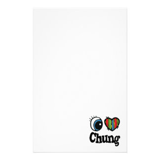 I Heart (Love) Chung Personalized Stationery