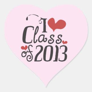 I heart (love) Class of 2013 Heart Sticker