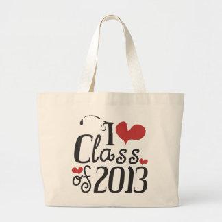 I heart (love) Class of 2013 Jumbo Tote Bag