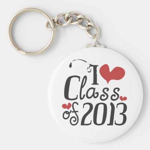 I heart (love) Class of 2013 Key Chains