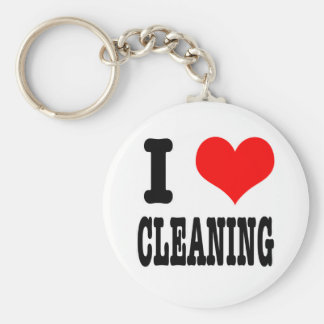 I HEART (LOVE) CLEANING KEY RING