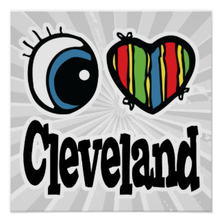 I Heart (Love) Cleveland Poster
