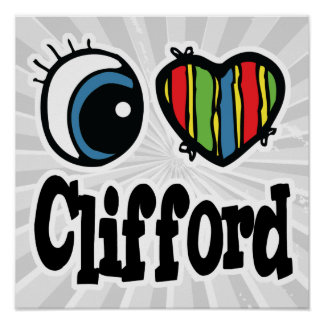 I Heart (Love) Clifford Poster