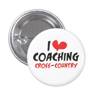 I heart (love) Coaching Cross Country 3 Cm Round Badge