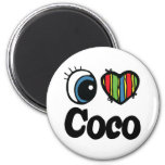 I Heart (Love) Coco Refrigerator Magnets