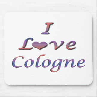I Heart Love Cologne Mouse Pads