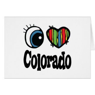 I Heart (Love) Colorado Greeting Cards
