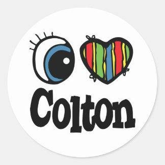 I Heart Love Colton Stickers