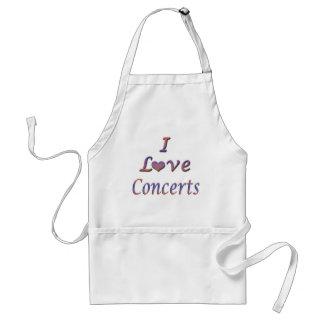 I Heart Love Concerts Apron