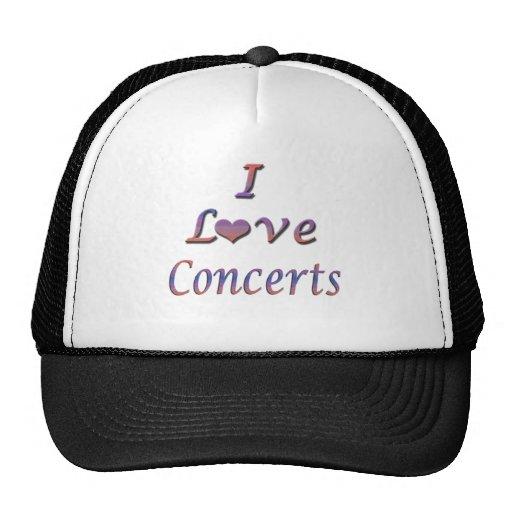 I Heart (Love) Concerts Trucker Hats