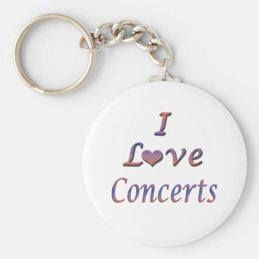 I Heart (Love) Concerts Key Chains