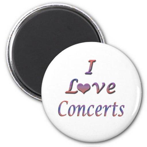 I Heart (Love) Concerts Fridge Magnets