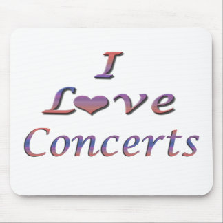 I Heart (Love) Concerts Mouse Mat