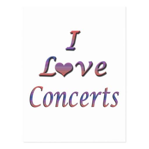 I Heart (Love) Concerts Postcards