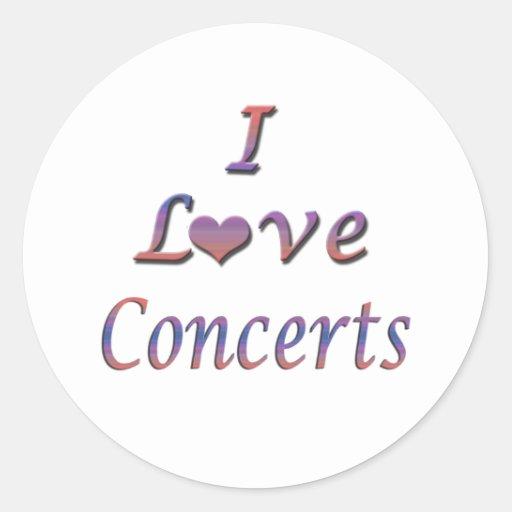 I Heart (Love) Concerts Sticker