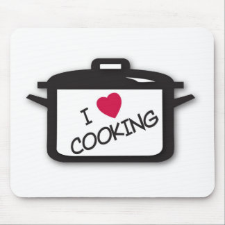 I Heart / Love Cooking Mousemat