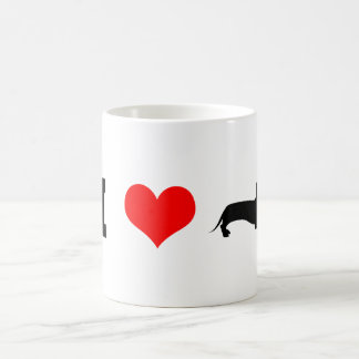 I Heart (love) Dachshunds Coffee Mug