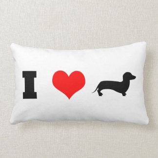 I Heart (love) Dachshunds Lumbar Cushion
