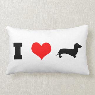 I Heart (love) Dachshunds Lumbar Pillow