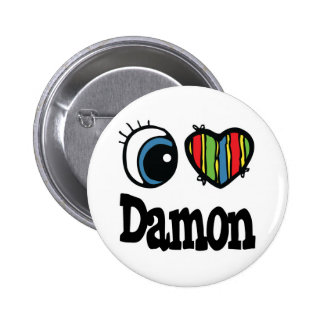 I Heart (Love) Damon 6 Cm Round Badge