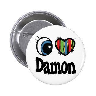 I Heart (Love) Damon 6 Cm Round Badge