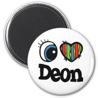 I Heart (Love) Deon 6 Cm Round Magnet
