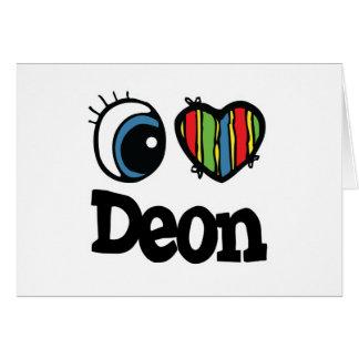 I Heart (Love) Deon Card