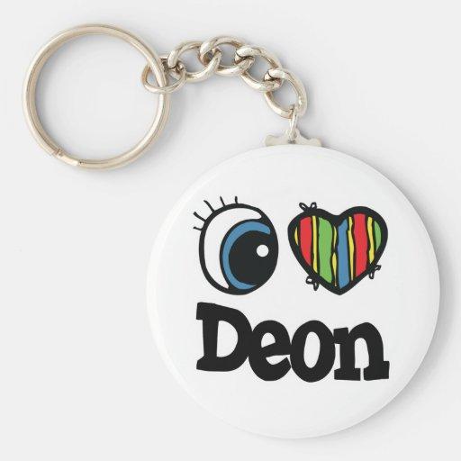 I Heart (Love) Deon Key Chains