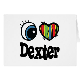 I Heart (Love) Dexter Greeting Card