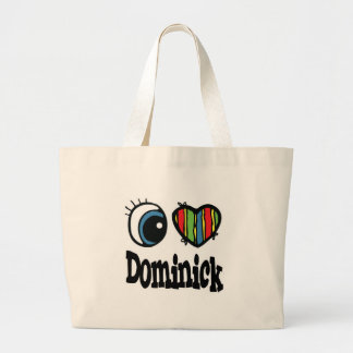I Heart (Love) Dominick Large Tote Bag