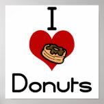 I heart-love doughnut poster