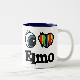 I  Heart (Love) Elmo Two-Tone Coffee Mug