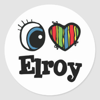 I  Heart (Love) Elroy Stickers