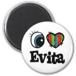 I  Heart (Love) Evita Refrigerator Magnets